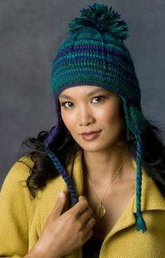 Comfy Earflap Hat Free Crochet Pattern from Red Heart Yrans