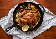 Skillet-Roasted Chicken with Parsnips, Lemon, and Fennel | 21 Fresh Ideas For Chicken Dinners