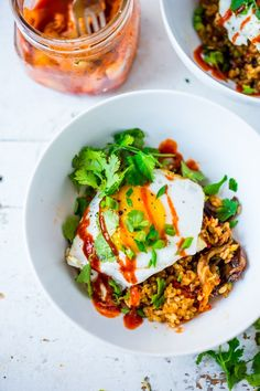 Kimchi Rice with Veggies and Eggs