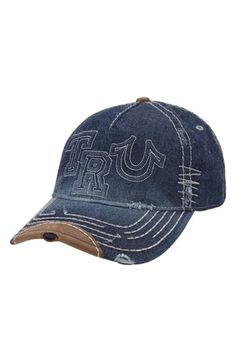 True Religion Brand Jeans  Raised Logo  Baseball Cap  ed3f52764bfa