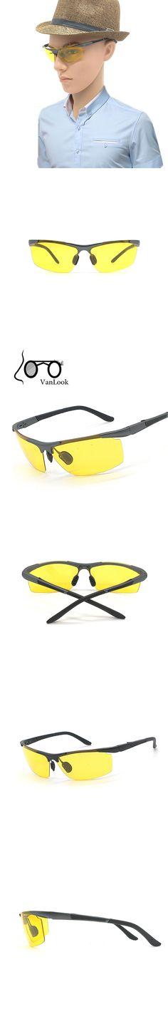 Yellow Sunglasses Aluminium Magnesium Alloy Polaroid Night Driving In The Dark Men Polarized Sun Glasses Lentes De Sol Amarillo