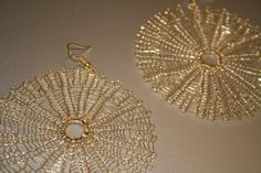 Hoop earrings  crochet by cabcrochet on Etsy, $23.00