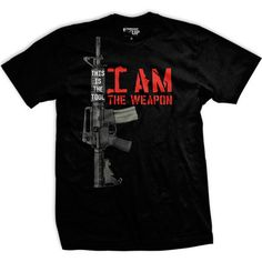 I am the Weapon shirt Mens Ranger Up short sleeve black Military Service Gun #RangerUp #GraphicTee