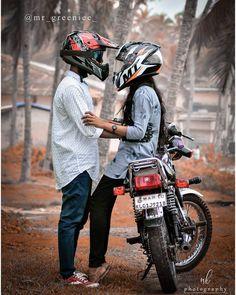 Biker Photography, Cute Couples Photography, Couple Photography Poses, Portrait Photography, Yamaha Rx100, Biker Couple, Duke Bike, Beauty And The Beast Movie, Biker Love