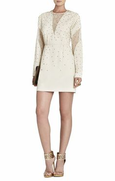Lake Rhinestone-Applique Cocktail Dress | BCBG