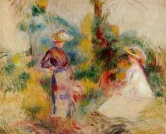 Two Women in a Garden, Pierre Auguste Renoir