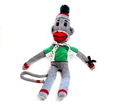 Image detail for -Vintage Sock Monkey / Handmade Sock Monkey by VintagePennyLane