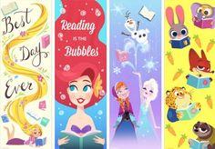 Education Disney Bookmarks, Free Printable Bookmarks, Creative Bookmarks, Cute Bookmarks, Disney Diy, Disney Crafts, Cute Disney, Diy And Crafts, Paper Crafts