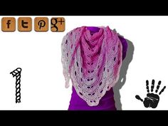 ▶ Virus shawl crochet tutorial part 1 - © Woolpedia - YouTube
