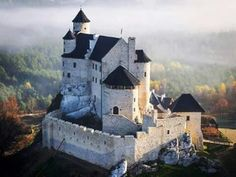 Bobolice Castle, a royal castle built in the middle of the 14th century in the Polish Jura, in the village of Bobolice