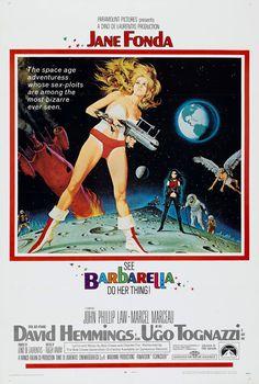 "Robert McGinnis - Poster for Roger Vadim's ""Barbarella"" (1968)."