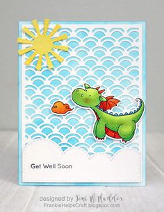 Frankie Helps Craft: Dragon Pox, MFT Magical Dragons, get well, child…
