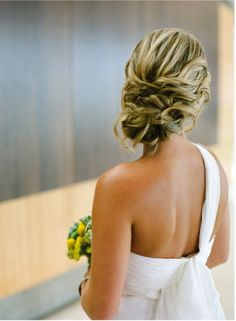 Love this..... If I was to have a one shoulder dress then an updo like this one would be fabulous!