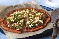 Bloemkoolpizza met broccoli en feta