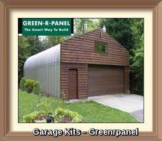 Garage Kits from Green-R-Panel #prefabhome #GarageKits