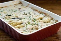 Vegan Scalloped Potatoes & Eggplant 'Bacon'  https://www.facebook.com/photo.php?fbid=392559197479404=a.319701864765138.72534.319696704765654=1