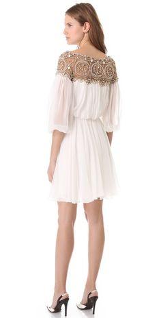 Marchesa Long Sleeve Cocktail Dress | SHOPBOP