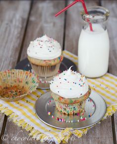 Perfect Portion Funfetti Cupcakes for Two!! Best to bake when you want a little something sweet, but not tons of leftovers to tempt you :)