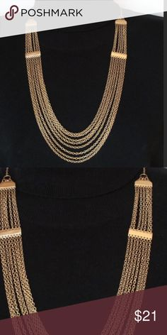🌸🌿Delicate Layered Fashion Necklace🌿🌸 Lovely NWOT layered gold tone fashion necklace! So cute!! Approximately 24 inches with a 3 inch extender. Adrienne Vittadini, but no signature. Jewelry Necklaces