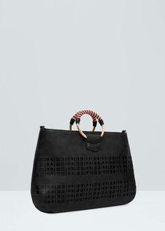 Perforated design bag -  Women | MANGO USA
