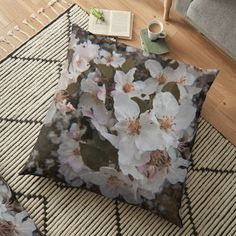 Floor Pillows, Throw Pillows, White Springs, Spring Blossom, Pillow Covers, It Is Finished, Prints, Photography, Toss Pillows