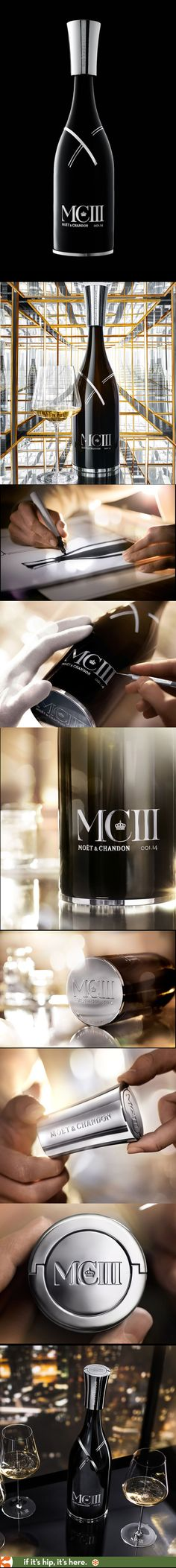 Moet & Chandon MCIII with its stunning hand-etched bottle and metal top.