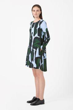 COS   Raw-edge printed dress