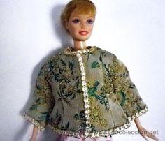 chaquetita corta para barbie, core, sindy, steffi love, hecha a mano, con forro, no incluye muñeca