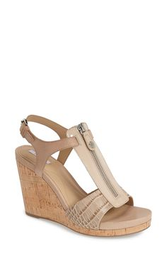 Will wear these in spring and summer | Geox cork wedge sandal.