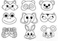 Animal Masks For Kids, Animal Crafts For Kids, Fun Crafts For Kids, Mask For Kids, Singapore Art, Felt Crown, Crown Template, Kids Dress Up, Homemade Playdough