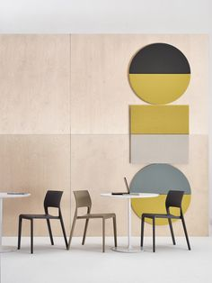 Geometric Acoustic Wall Panels by Arper (Design Milk) Acoustic Wall Panels, Interior Design Shows, Wall Panel Design, Modular Walls, Co Working, Diy Décoration, Kare Design, Colorful Interiors, Decoration