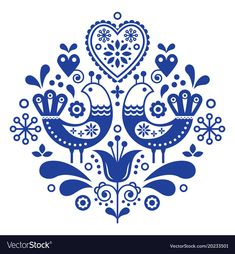 Scandinavian folk art ornament with flowers, nordic floral design, retro background in navy blue. Retro floral background inspired by swedish and norwegian traditional embroidery. Hand Embroidery Patterns Free, Embroidery Flowers Pattern, Folk Embroidery, Vintage Embroidery, Indian Embroidery, Embroidery Ideas, Embroidery Online, Modern Embroidery, Vintage Pattern Design