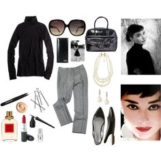 """Audrey Hepburn Casual Style"" by aurevoirhistoire on Polyvore"