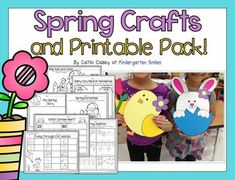 Celebrate the season with these fun crafts! There are two different crafts included, a bunny and a chick.Here's what's inside:*Bunny and chick patterns, pictures, and directions*My Favorite Part About Spring Is (prompt with different options)*If I Were the Easter Bunny (prompt with different options)*My Spring Story writing paper*Spring Scramble-mixed up sentences*Flying Through CVC Words*Flying Through CVCe Words*Rainy Day Real/Nonsense Words*Roll, Add, and Color*Ten Frames: addition to…
