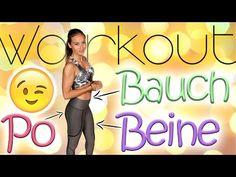 Bauch Beine Po Training für Zuhause - 30 Min Workout - Ohne Geräte - Einfach mitmachen - 20 Übungen - YouTube