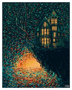 """James R. Eads » """"The Tower"""" Prisma Visions Tarot -- If you love Tarot, visit me at www.WhiteRabbitTarot.com"""
