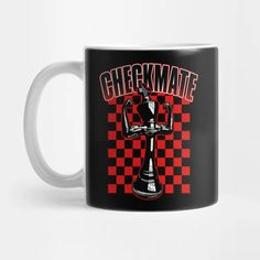 Checkmate Black King Chess Player Grandmaster Winner Red - Checkmate - Mug | TeePublic Chess Players, Black King, Phone Cases, Mugs, Shop, Red, Gifts, Presents, Tumblers