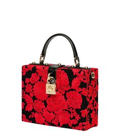 Dolce & Gabbana: Embroidered Box Bag