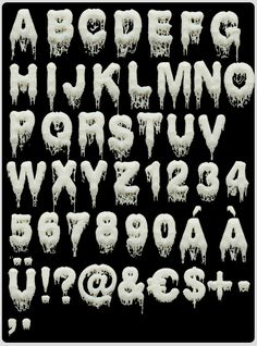 Handmade fonts. by HandMadeFont , via Behance