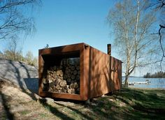 Sauna from a container. http://www.wrb.se/wrb.html