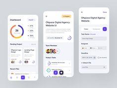Mobile Ui Design, App Ui Design, User Interface Design, Dashboard App, Dashboard Design, Project Management Dashboard, Ecommerce App, Mobile Project, App Design Inspiration