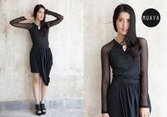 CALATHEA BLACK TOP - muaya clothing - #fashion #womensfashion #womenswear