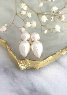 Buy Now Pearl Earrings Pearl Stud Earrings Classic Bridal. Pearl Stud Earrings, Pearl Studs, Blue Earrings, Pearl Jewelry, Bridesmaid Earrings, Bridal Earrings, Etsy Earrings, Bridesmaids, Bridal Jewelry