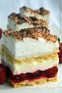 Kawa cynamonem pachnąca: CIASTO ZEMSTA TEŚCIOWEJ Z TRUSKAWKAMI Mini Cakes, Tiramisu, Cheesecake, Menu, Sweets, Baking, Ethnic Recipes, Foodies, Drinks