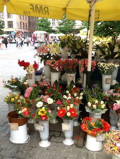 Flowers, in the market, Old city, Krakow.