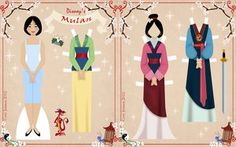 """:iconcor104:  Mulan Paper Dollby ~Cor104  Fan Art / Digital Art / Painting & Airbrushing / Movies & TV©2012 ~Cor104  Mulan joins the Retro Paper Doll Collection!:) Someone suggested that I make a Mulan doll a while ago and I though to myself """"why haven't I done her yet!?!"""" I love Mulan and I think she has a beautiful wardrobe! Of, course this is a doll of the """"non army"""" Mulan! ha ha    I LOVE the very last dress she wears in the movie! I think the colors are gorgeous!    I had alot of fun…"""