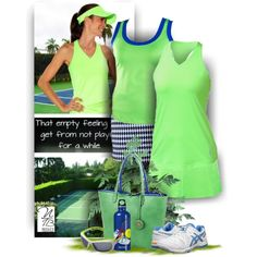 Enjoy Tennis in this cool and fresh tennis outfit available at @ntennisboutique