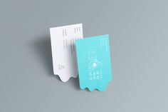 """Branding & Interior Design for Kakigōri by LIE """"Kakigōri is a Japanese shaved ice dessert bar in Kuala Lumpur. We created a fictional character for the brand – Yuki, a lady made of snow yet fascinated by the tropical world. As much as she enjoys the. Die Cut Business Cards, Vintage Business Cards, Artist Business Cards, Free Business Cards, Professional Business Cards, Business Card Design, Blog Design Inspiration, Name Card Design, Brand Guidelines"""