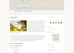 Tagged Premade Blog Theme (For Wordpress or Blogger). $50.00, via Etsy.