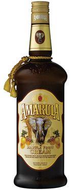 Amarula Cream - Licor elaborado com o creme da fruta marula da árvore africana maruleira Sclerocarrya birrea,  cresce na savana africana região da África subequatorial e não é cultivada pelo homem.   A Amarula passou a ser comercializada em 1989.   A bebida possui um sabor suave semelhante ao caramelo.   Pela associação da árvore da marula com elefantes, o fabricante fez do elefante o símbolo da marca comercial e suporta um programa de preservação destes animais.